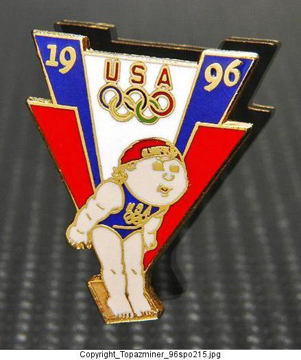 OLYMPIC PIN 1996 ATLANTA GEORGIA USA CABBAGE PATCH KIDS DIVING TEAM NOC